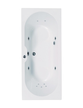 Aquaestil Calisto 1700 x 700mm Whirlpool Bath With 11 Jets