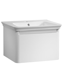 Tavistock Equate 600mm Wall Mounted Single Drawer Unit With Basin