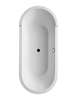 Duravit Starck 1800 x 800mm Oval Double Ended Freestanding Bath