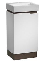 Tavistock Edge 450mm White-Grey Oak Freestanding Unit With Basin