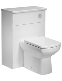 Tavistock Courier 600mm White Back To Wall WC Unit