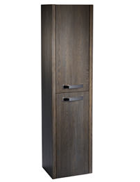 Tavistock Impact 350 x 1400mm Wall Mounted Java Finish Tall Storage Unit