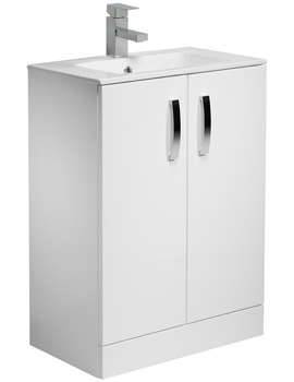 Tavistock Swift 600mm Freestanding Unit With Ceramic Basin - White