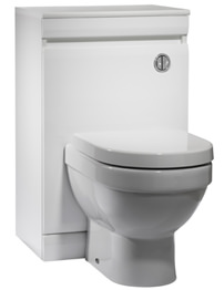 Tavistock Groove 500mm Gloss White Back To Wall WC Unit
