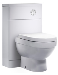 Tavistock Kobe 500mm White Back To Wall WC Unit With Worktop