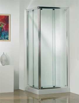 Kudos Original Straight Corner Slider Door 800mm White