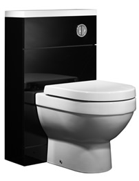 Tavistock Kobe 500mm Black Back To Wall WC Unit With Worktop