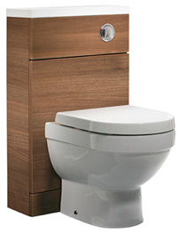 Tavistock Kobe 500mm Walnut Back To Wall WC Unit With Worktop