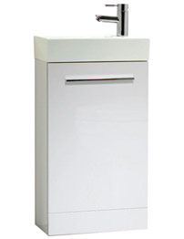 Tavistock Kobe 450mm White Finish Freestanding Unit With Basin