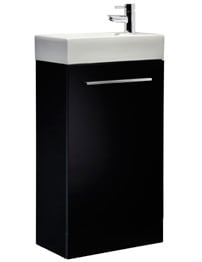 Tavistock Kobe 450mm Black Finish Freestanding Unit With Basin