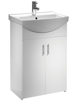 Tavistock Opal 500mm White Freestanding Unit With Basin