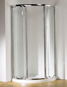 Kudos Original Silver Frame Centre Access Curved Slider Door 810mm