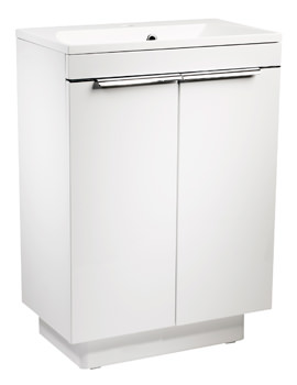 Roper Rhodes Cypher 600mm White Freestanding 2 Door Unit And Basin