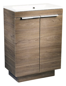 Roper Rhodes Cypher 600mm Dark Elm Freestanding 2 Door Unit And Basin