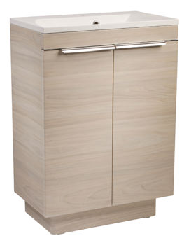 Roper Rhodes Cypher 600mm Light Elm Freestanding 2 Door Unit And Basin