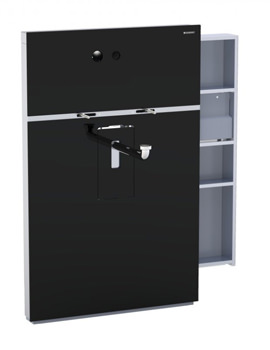 Geberit Black Monolith Sanitary Module With Right Drawer