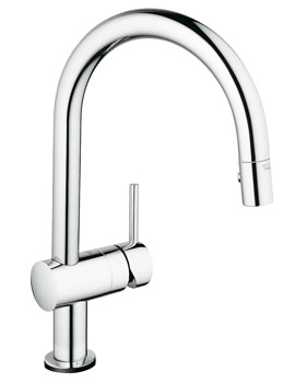 Grohe Minta Sink Mixer Tap With Extractable Pull Out Spray Chrome