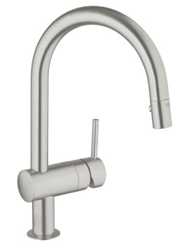 Grohe Minta Sink Mixer Tap With Extractable Pull Out Spray Supersteel