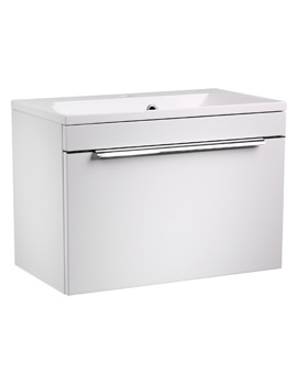 Roper Rhodes Cypher 600mm White Wall Hung Drawer Unit And Basin