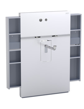 Geberit White Monolith Sanitary Module With Left And Right Drawer