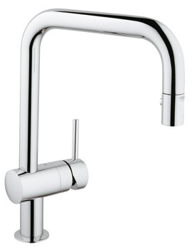 Grohe Minta U Spout Tap With Extractable Pull Out Spray Chrome