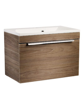 Roper Rhodes Cypher 600mm Dark Elm Wall Hung Drawer Unit And Basin