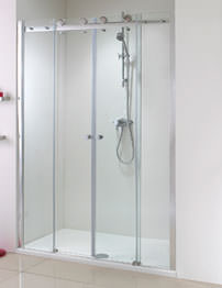 Phoenix Frameless Twin Slider Shower Door 1700mm