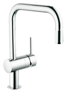 Grohe Minta Sink Mixer Tap With U Spout Extractable Mousseur
