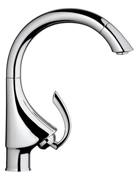 Grohe K4 Sink Mixer Tap With Pull Out Mousseur Stainless Steel
