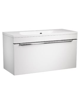 Roper Rhodes Cypher 800mm White Wall Hung Drawer Unit And Basin