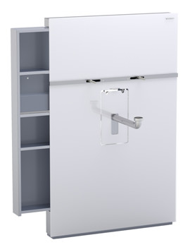 Geberit White Monolith With Left Drawer For Washbasin And Tap