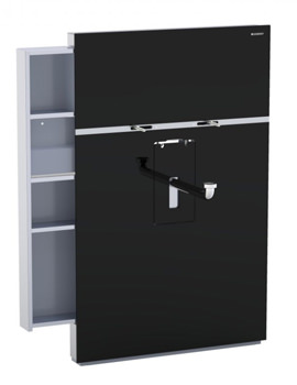 Geberit Black Monolith With Left Drawer For Washbasin And Tap