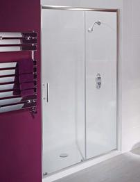 Beo Framed Single Sliding Shower Door 1100mm