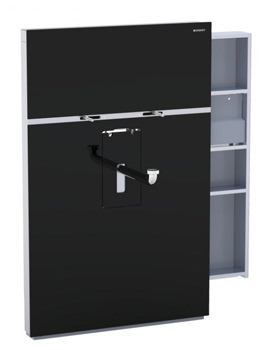 Geberit Black Monolith With Right Drawer For Washbasin And Tap