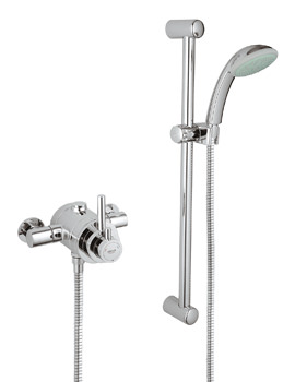 Grohmaster Avensys Modern Thermostatic Dual EV Shower Mixer With Kit
