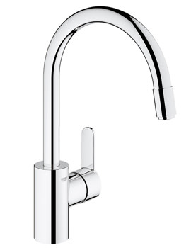 Grohe Eurostyle High Spout Cosmopolitan Tap With Pull Out Spray Chrome