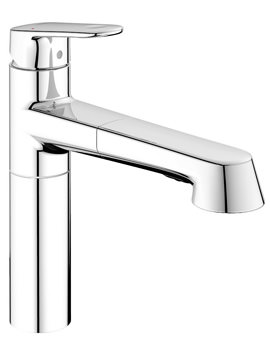 Grohe Europlus 1/2 Inch Sink Mixer Tap With Extractable Handspray
