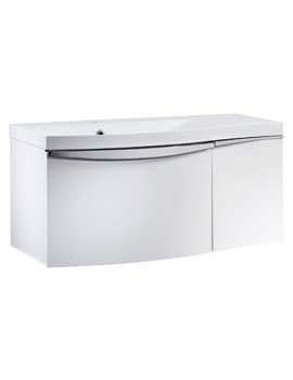 Roper Rhodes Serif 900mm White Wall Hung Left Hand Unit And Basin