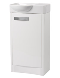 Roper Rhodes Mia 450mm White Freestanding 1 Door Unit And Basin