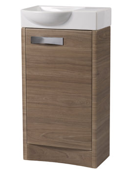 Roper Rhodes Mia 450mm Dark Elm Freestanding 1 Door Unit And Basin