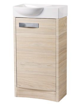 Roper Rhodes Mia 450mm Light Elm Freestanding 1 Door Unit And Basin