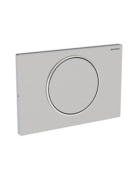 Geberit Sigma10 Stainless Steel Single Flush Plate