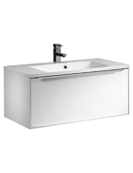 Roper Rhodes Vista 900mm White Wall Hung Drawer Unit And Basin