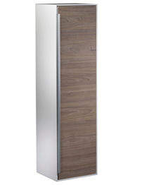 Roper Rhodes Vista 330 x 1220mm Tall Wall Hung White-Dark Elm Unit