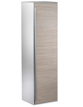 Roper Rhodes Vista 330 x 1220mm Tall Wall Hung White-Light Elm Unit