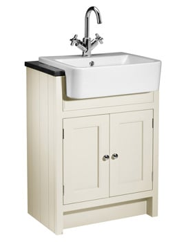 Roper Rhodes Hampton 600mm Vanilla Semi-Countertop Unit And Geo Basin