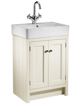 Roper Rhodes Hampton 550mm Vanilla Countertop Unit And Basin