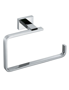 Vado Level Wall Mounted Chrome Towel Ring