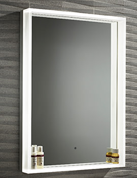 Roper Rhodes Aura 500mm Framed Edged Illuminated Mirror
