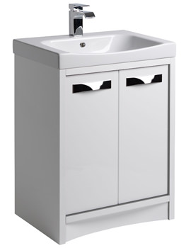 Roper Rhodes Breathe 600mm White-Grey Freestanding Unit And Basin